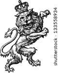 regal lion | Shutterstock .eps vector #133558934