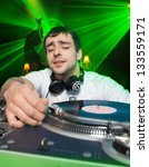 club dj  playing mixing music | Shutterstock . vector #133559171