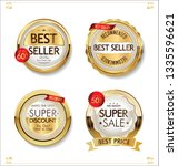 luxury premium sale golden... | Shutterstock .eps vector #1335596621