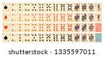 full set of detailed colorful... | Shutterstock .eps vector #1335597011