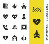 healthy icons set with reins ...