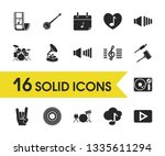melody icons set with turntable ...