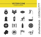 exercise icons set with racing...