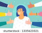 concept of success and public... | Shutterstock .eps vector #1335623321