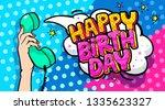happy birthday word bubble.... | Shutterstock .eps vector #1335623327