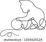 continuous one line drawing of... | Shutterstock . vector #1335625124