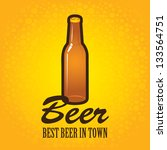 banner with a bottle of beer on ...   Shutterstock .eps vector #133564751