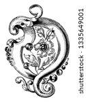 brooch is a combination of...   Shutterstock . vector #1335649001