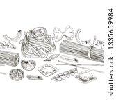 beautiful vector hand drawn... | Shutterstock .eps vector #1335659984