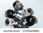 top view.business team working... | Shutterstock . vector #1335660881