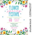 flower spring festival...   Shutterstock .eps vector #1335662537