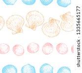 seashells seamless pattern for... | Shutterstock .eps vector #1335665177