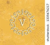 card with vintage frame on... | Shutterstock .eps vector #1335676217