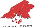 3d isometric volume view map of ... | Shutterstock .eps vector #1335685277