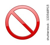 no sign  no symbol  not allowed ... | Shutterstock . vector #133568915