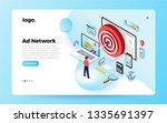 isometric flat design concept... | Shutterstock .eps vector #1335691397