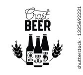craft beer label isolated icon | Shutterstock .eps vector #1335692231