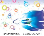 abstract vector fish on... | Shutterstock .eps vector #1335700724