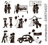 wedding vector set stick figure ... | Shutterstock .eps vector #1335714227