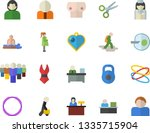 color flat icon set person flat ... | Shutterstock .eps vector #1335715904