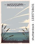 Mississippi Retro Poster. Usa...