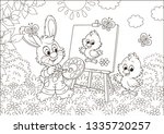 Little Bunny Drawing A Small...