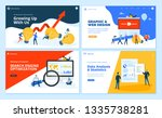 set of flat design web page... | Shutterstock .eps vector #1335738281
