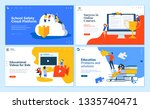set of flat design web page... | Shutterstock .eps vector #1335740471
