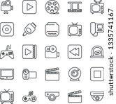 thin line icon set   ticket... | Shutterstock .eps vector #1335741167