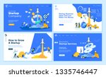 set of flat design web page... | Shutterstock .eps vector #1335746447