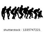 group of people. black...   Shutterstock .eps vector #1335747221