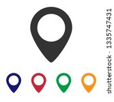 location icon vector | Shutterstock .eps vector #1335747431