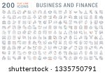 set of line icons of business... | Shutterstock . vector #1335750791