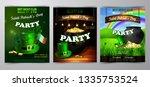 vector st. patrick s day poster ... | Shutterstock .eps vector #1335753524