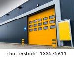 Yellow Loading Door