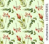 watercolor flourishing protea ... | Shutterstock . vector #1335758351