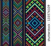color variants ethnic ornament | Shutterstock .eps vector #133576109