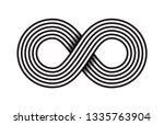 infinity  moebius vector symbol ... | Shutterstock .eps vector #1335763904