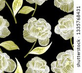 seamless pattern with hand... | Shutterstock . vector #1335768431