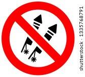 prohibition sign. black... | Shutterstock .eps vector #1335768791
