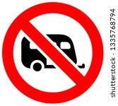prohibition sign. black... | Shutterstock .eps vector #1335768794
