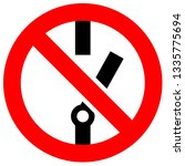 prohibition sign. black... | Shutterstock .eps vector #1335775694