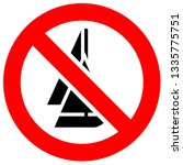 prohibition sign. black... | Shutterstock .eps vector #1335775751