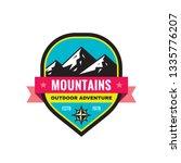 mountain   concept badge vector ... | Shutterstock .eps vector #1335776207