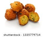 Stock photo homemade hush puppies southern food deep fried cornbread balls 1335779714