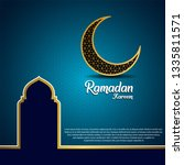 ramadan kareem background ...   Shutterstock .eps vector #1335811571