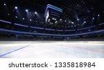 empty ice hockey arena indoor... | Shutterstock . vector #1335818984