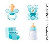 it's a boy  newborn icon set.... | Shutterstock .eps vector #1335819104