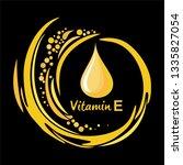 vitamin e. icon logo. medical... | Shutterstock .eps vector #1335827054