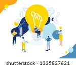 flat isometric vector business... | Shutterstock .eps vector #1335827621